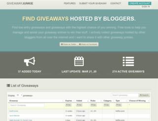 giveawayjunkie.com screenshot