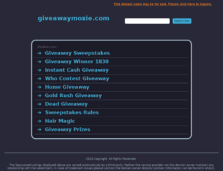 giveawaymoxie.com screenshot