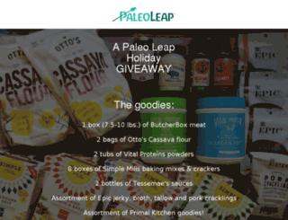 giveaways.paleoleap.com screenshot