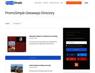 giveaways.promosimple.com screenshot