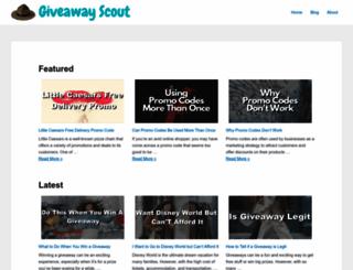 giveawayscout.com screenshot