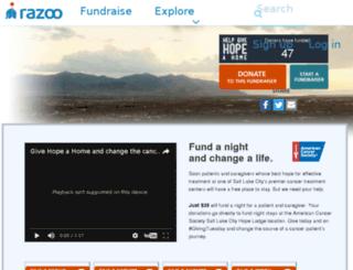 givehopehome.razoo.com screenshot