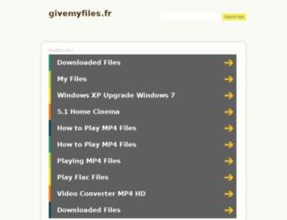 givemyfiles.fr screenshot