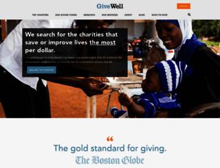 givewell.org screenshot