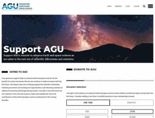 giving.agu.org screenshot