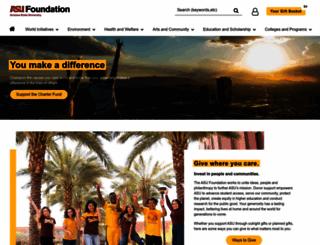 giving.asu.edu screenshot