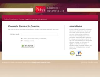 giving.churchofhispresence.org screenshot