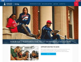 giving.howard.edu screenshot