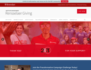 giving.rpi.edu screenshot