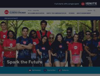 giving.uic.edu screenshot