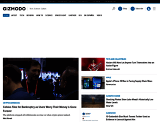 gizmodo.com screenshot