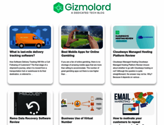 gizmolord.com screenshot
