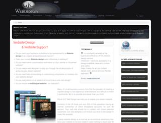 gjcwebdesign.com screenshot