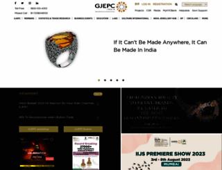 gjepc.org screenshot
