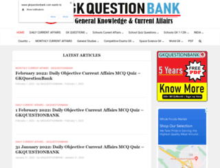 gkquestionbank.com screenshot