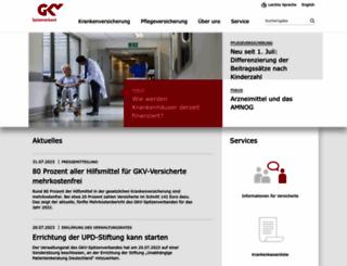 gkv-spitzenverband.de screenshot