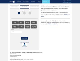 glaad.nationbuilder.com screenshot