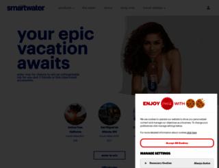 glaceau.com screenshot