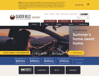 glacierhillscu.org screenshot