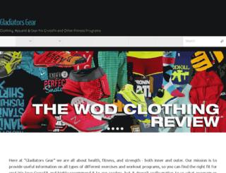 gladiatorsgear.com screenshot