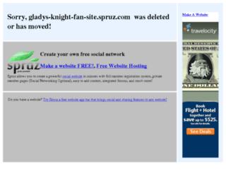 gladys-knight-fan-site.spruz.com screenshot