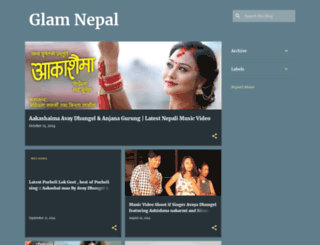 glamnepal.blogspot.com screenshot