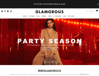 glamorous.com screenshot