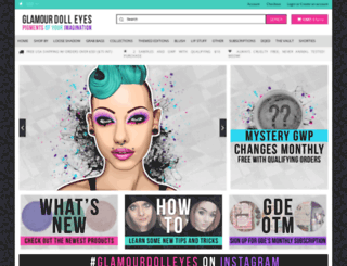 glamourdolleyes.com screenshot