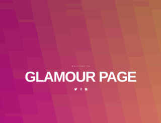 glamourpage.com screenshot