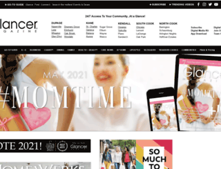 glancermagazine.com screenshot