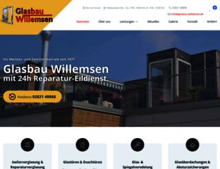 glasbau-willemsen.de screenshot