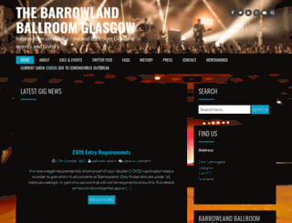 glasgow-barrowland.com screenshot
