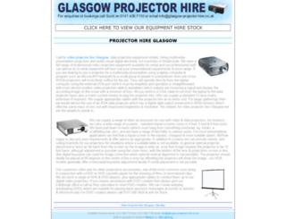 glasgow-projector-hire.co.uk screenshot