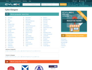 glasgow.cylex-uk.co.uk screenshot