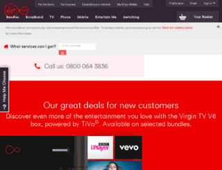 glasgow2014.virginmedia.com screenshot