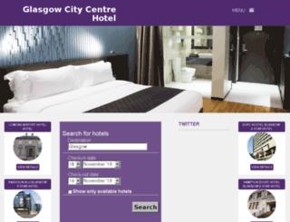 glasgowcitycentrehotel.com screenshot