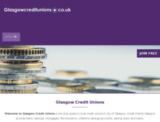 glasgowcreditunions.co.uk screenshot
