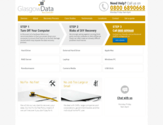 glasgowdatarecovery.co.uk screenshot