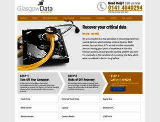 glasgowdatarecovery.co.uk screenshot