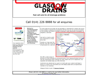 glasgowdrains.co.uk screenshot