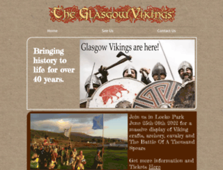 glasgowvikings.co.uk screenshot