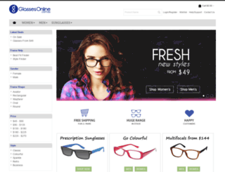glassesonline.com.au screenshot