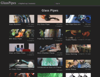 glasspipes.org screenshot