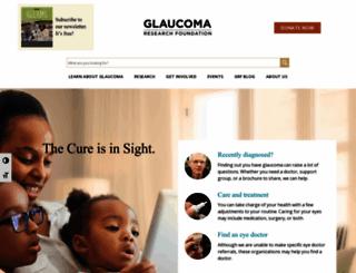 glaucoma.org screenshot