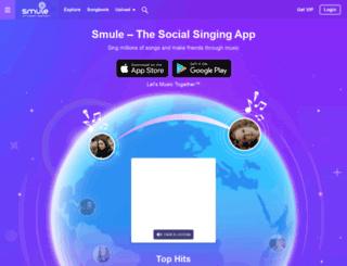 glee.smule.com screenshot