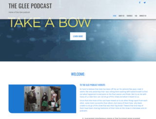 gleepodcast.com screenshot