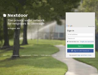 gleneaglewa.nextdoor.com screenshot
