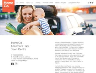 glenmoreparktowncentre.com.au screenshot