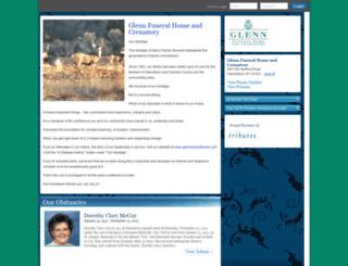 glennfuneralhome.tributes.com screenshot