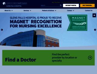 glensfallshospital.org screenshot